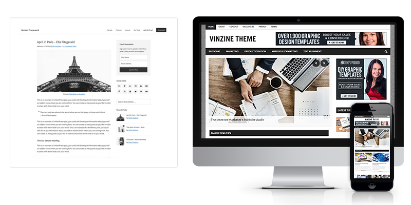Genesis-powered WordPress theme